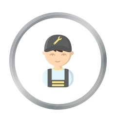 Mechanic cartoon icon for web and vector image
