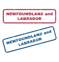 Newfoundland and Labrador Rubber Stamps vector image vector image