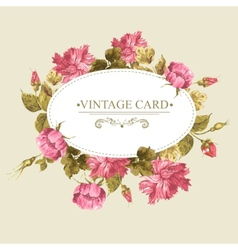 Vintage Greeting Card Watercolor vector image vector image
