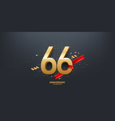 66th year anniversary background vector