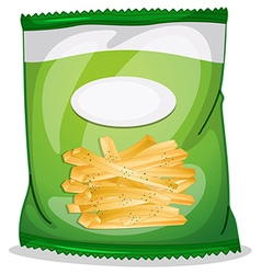 A pack of crispy french fries vector