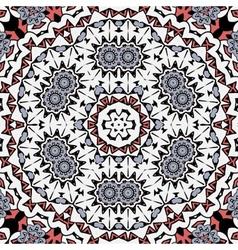 Abstract circle ornate floral mandala ornament vector