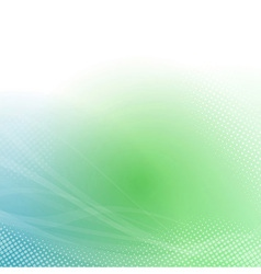 Abstract green transparent background lines vector