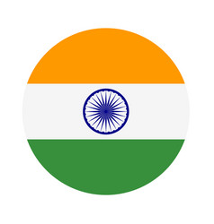 abstract india flag sign vector image