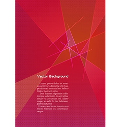 Abstract red geometric background with lines vector