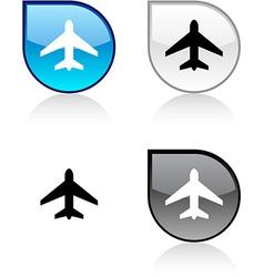 Aircraft button vector