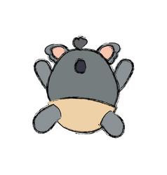baby koala stuffed animal faceless vector image
