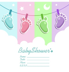 Bashower invitation card vector