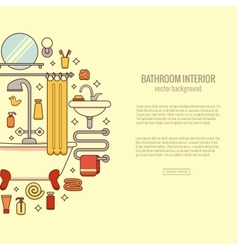 BATHROOM-END vector image