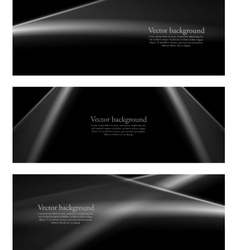 Black and white monochrome smooth lines banners vector