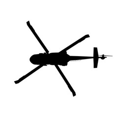 black hawk helicopter silhouette vector image