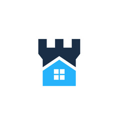 Castle house logo icon design vector