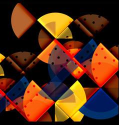 circle elements on black background vector image