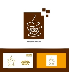 Coffee cup logo icon set vector