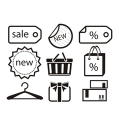 Collection of shopping icons vector