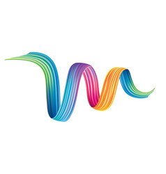 colorful brushstroke design element vector image