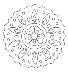 Coloring Wave Floral Mandala vector