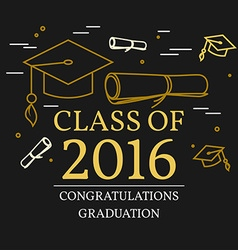 Congratulations graduation greeting card For web vector image