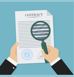 contract verification in flat style business vector image