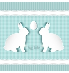 cute easter card vector image