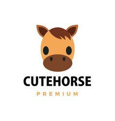 cute horse flat logo icon vector image