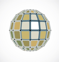 Dimensional wireframe low poly object spherical vector