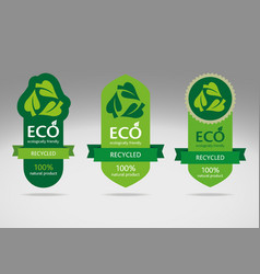 ECO Label Set 3 vector image
