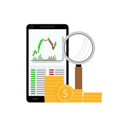 exchange chart analysis vector image