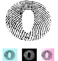Fingerprint Alphabet Letter O vector image