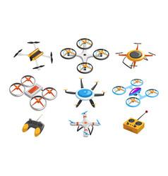 Flat set quadrocopters remote vector