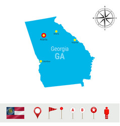Georgia map isolated on white background high vector