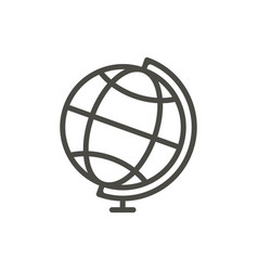 Globe icon line earth symbol vector