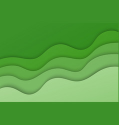 green abstract wavy composition vector image