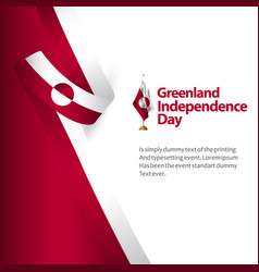 Greenland independence day template design vector