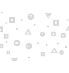 Grey social communication tech icons background vector