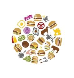 Hamburger icons in circle vector