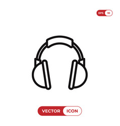 Headphone icon headset music audio dj symbol vector