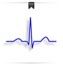 heart pulse graphic vector image