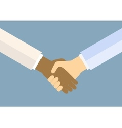Icon handshake for business and finance vector
