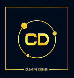 Initial letter cd logo template design vector