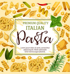 Italian pasta spices and herbs vector
