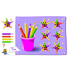 Logic puzzle game for kids need to find correct vector