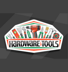 logo for hardware tools vector image