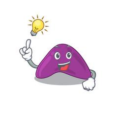 Mascot character smart adrenal has an idea vector