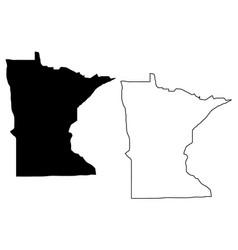 Minnesota map vector