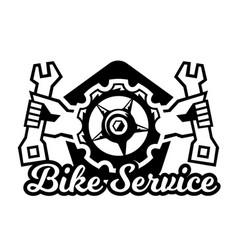 monochrome logo mountain bike repair vector image