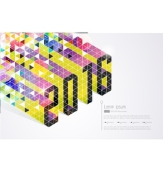 New years card Abstract vector image
