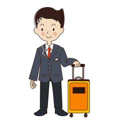 Occupation steward flight attendant vector