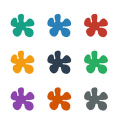 Paintball icon white background vector