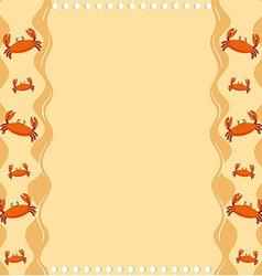 Paper design with crabs vector